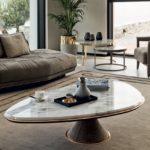 Marmorplaadiga elegantne kohvilaud